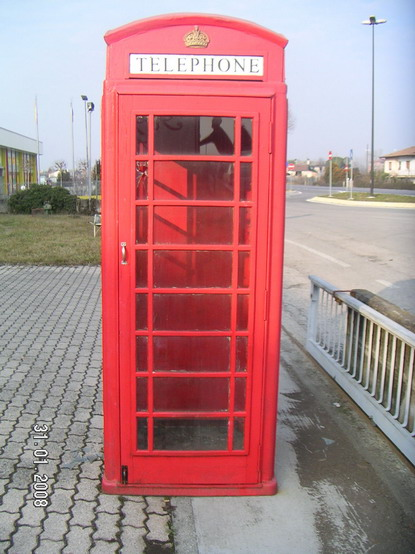 cabina telefonica inglese art. n.4148.0.0 - gasparetto antichità - Cabina Telefonica