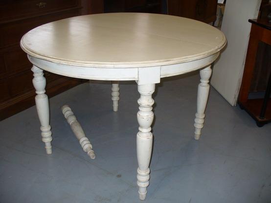 Tavolo ovale allungabile laccato bianco art. n.4138.0.0 ...